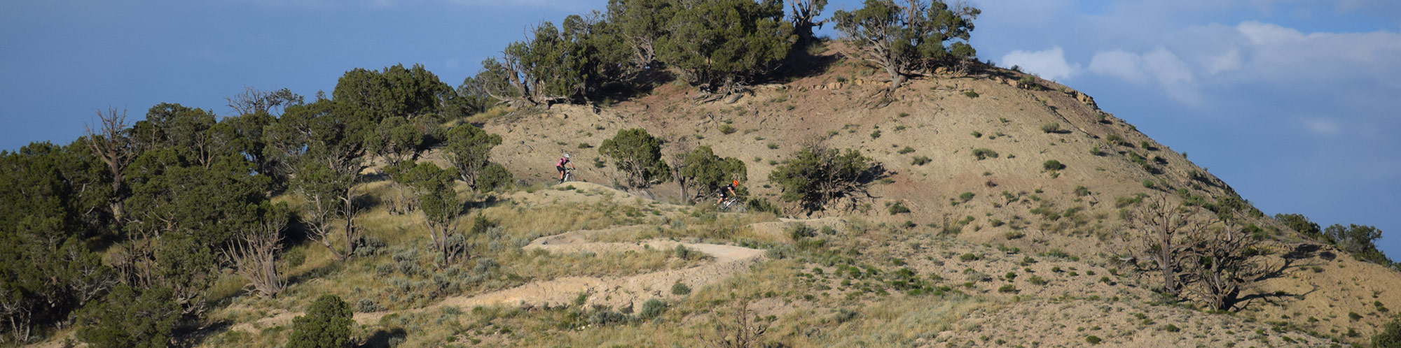 Image of the final berms on the Haymeadow trail's downhill